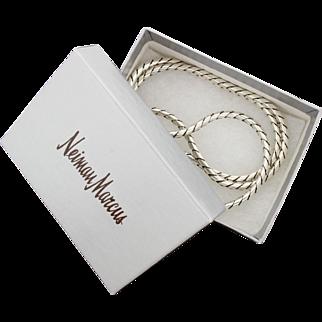 "Heavy David Yurman Sterling Silver 925 Chain Necklace Snake 26"" 68G"
