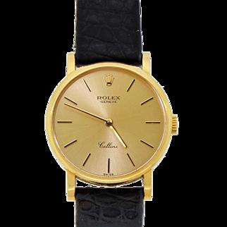 Authentic Rolex Cellini 18k Yellow Gold Women's Wristwatch Ref. 5109 Original  Box