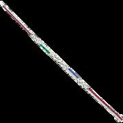 Old 18k White Gold Art Deco Influenced Diamond Ruby Sapphire Line Bracelet Possibly Birks