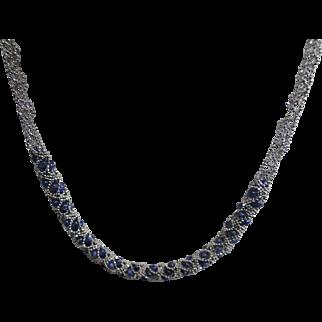 Blue Sapphire 18k Chain