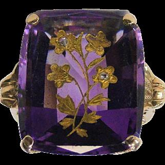 Vintage Amethyst 14 Karat Gold Ring