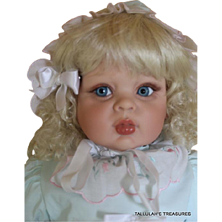 Fayzah Spanos 26 inch vinyl sitting doll from 1994 limited edition of 250 dolls