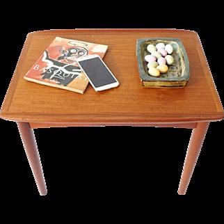 Danish Vintage Side Table with raised edge
