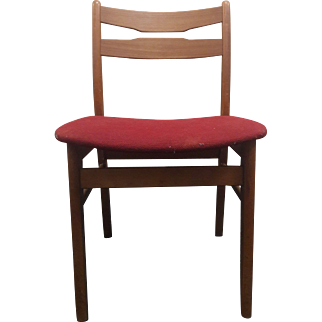 Teak Dining Chair - Red