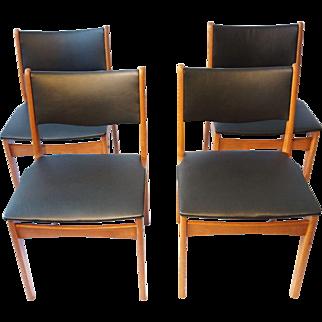 4 Vintage Danish chairs Uldum Møbelfabrik