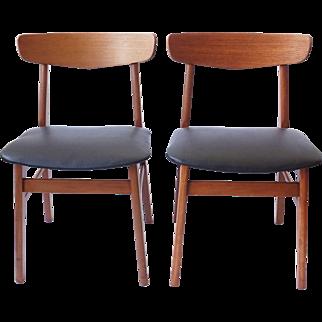 Danish Vintage Farstrup Teak Chairs - Set of 2