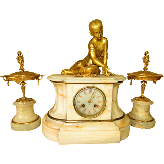 Onyx Clock Garniture set