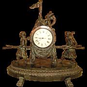 Maitland Smith Verdigris Monkey Clock