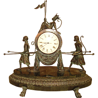 Maitland Smith Verdigris Monkey Clock