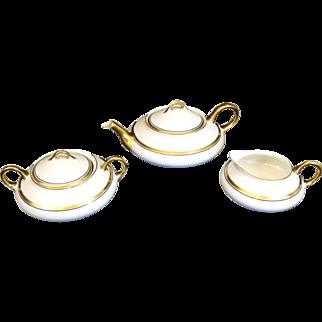 Pope-Gosser Tea Set 1930s Teapot Sugar Creamer