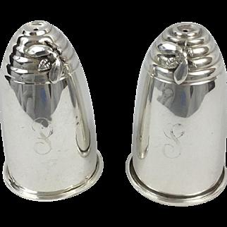 Gorham Beehive Design Salt & Pepper Shakers