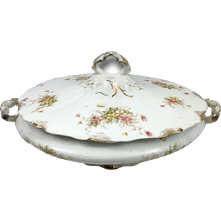 East Liverpool Potteries Covered Vegetable Dish