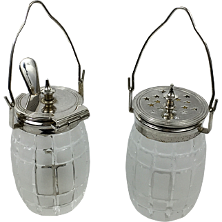 Sterling Silver Mustard Pot and Pepper Jar
