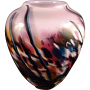 Glass Vase by Shawn Messenger Pink Purple Blue Green