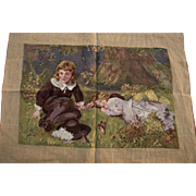 Petit Point Tapestry, Wool, 1950's