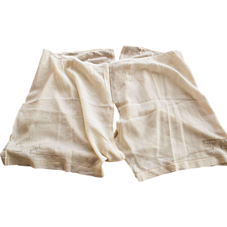Antique Silk Bloomers, ca. 1890's, Embroidered