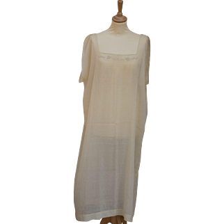 Vintage 1920 Cream/Silk Nightgown, Large size