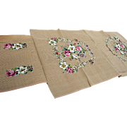 Vintage Needlepoint Set/Upholstery, Cushion Panels