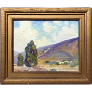 """1925 Joane Cromwell """"Laguna Canyon"""" oil painting, signed Catherine Strode!"""