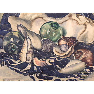 CaLiFoRnia Artist JESSIE ARMS BOTKE - Original Still Life Watercolor