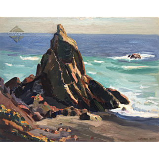1930's Carmel Coast, CaLiFoRniA Oil Painting by Cornelius Botke