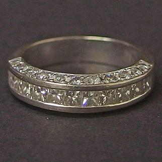 14 Karat White gold & diamond wedding band