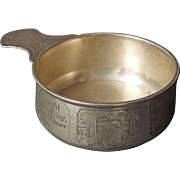William Kerr Sterling Silver Child's Porringer