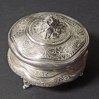 Scandinavian 830 silver antique Dresser box