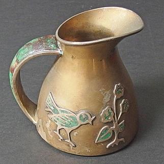 Los Castillo silver-plated bird pitcher