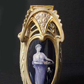 Turn Vienna Art Nouveau porcelain vase