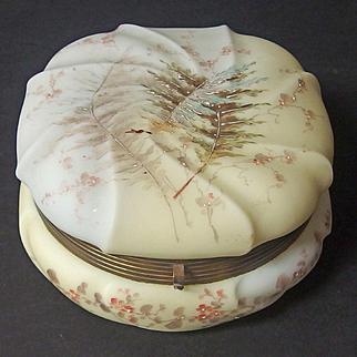 Large antique Wavecrest 'Fern Swirl' pattern dresser box