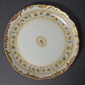 Hand painted Limoges porcelain plaque