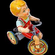 1930's Kiddie Cyclist Tin Windup Toy
