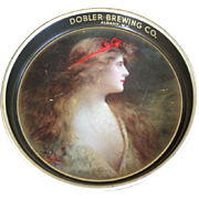 Dobler Brewing Co. Beer Tray (Circa 1920's) New York