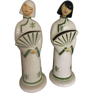 Hedi Schoop California Pottery (Signed) Two Chinese Ladies