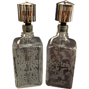 Continental Barware Liquor Decanters (Set of 2)