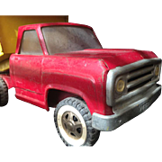 1960's Tonka Dump Truck Pressed Steel Red and Yellow