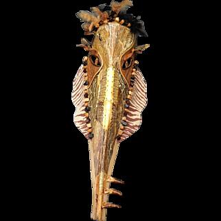 Reptilian (Handmade Palm Frond Mask)