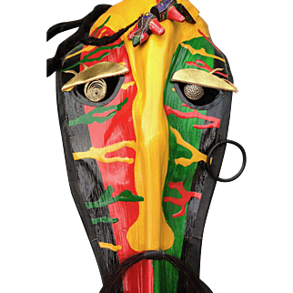 Rasta Man (Handmade Palm Frond Mask)