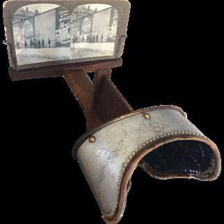 1904 Keystone Monarch Stereoscope Viewer plus 3 Slides