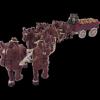 Vintage Anheuser Busch Beer Wagon Cast Iron