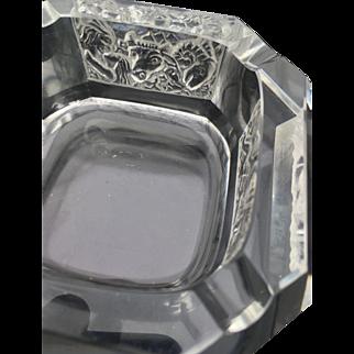 Lalique Art Deco Heinrich Hoffmann/Schlevogt Zodiac Crystal Ashtray