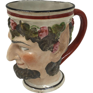 Antique Porcelain Bacchus Mug circa 1825