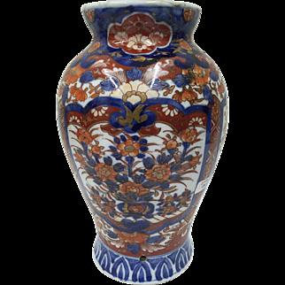 Antique Oriental Imari Porcelain Vase Lamp circa 1865