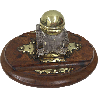 Victorian Betjemanns Patent Signed Partners Inkwell & Stand circa 1880