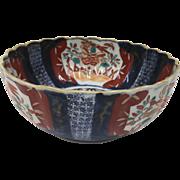 Oriental Japanese Imari Porcelain Bowl circa 1870