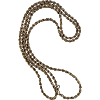 Vintage 1970's Sterling Silver Rope Chain -30 inch