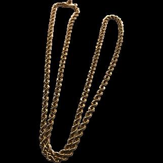 Very Pretty Estate 14K Gold Rope Chain