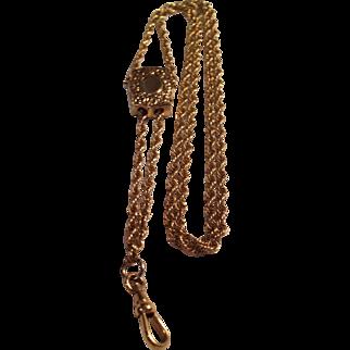 Large Vintage Gold Filled Watch Slide Chain