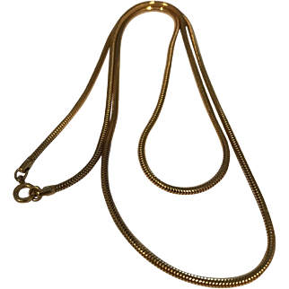 Vintage Gold Filled Long Heavy Snake Chain